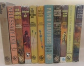 Set of Vintage Thriller Book Club Decorative Pulp Fiction Books - Instant Library - Old Book Collection