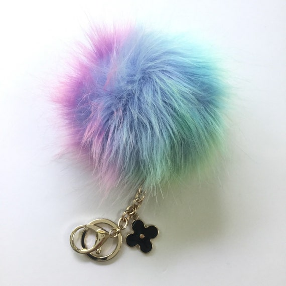 11db7cc7ae37 New Orange Fur Pom Pom Keyring Keychain Fur Puff Ball Bag