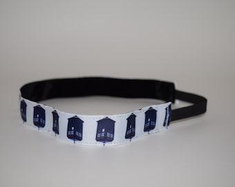 Dr. Who headband- Tardis headband- Police Box headband- Tardis- Doctor Who Headband