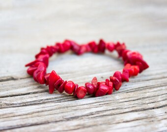 Red Sea Coral Bracelet