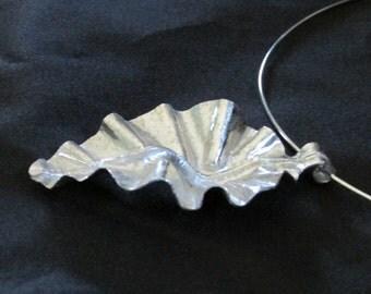 Fold Form Leaf Necklace