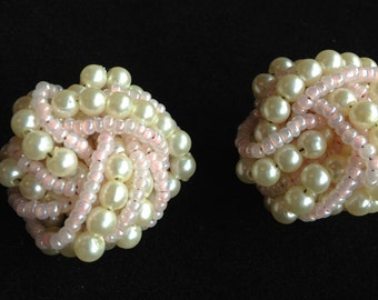 Lovely Vintage Clip On Earrings.