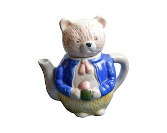 Teddy bear teapot - vintage decoration teapot