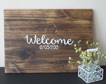 Guest book, Wood Guest Book, Wedding Welcome Sign, Rustic Wedding, Rustic Wedding Sign, Personalized Guest Book, Large Guestbook, Wedding