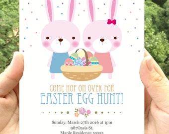 Easter Egg Hunt Party Invitation Printable- Invitatation Printable