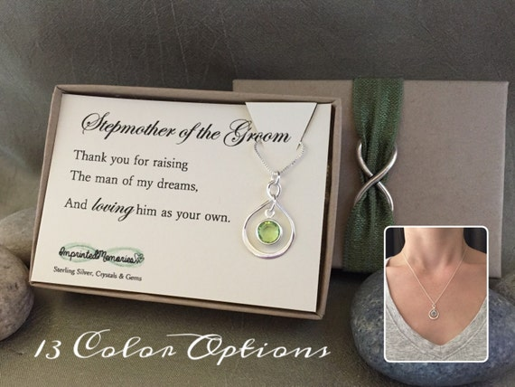 Wedding Gift For Stepmom : ... silver crystal - gift for stepmom gift - step mom wedding gift