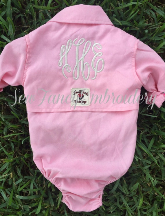 monogrammed fishing onesie fishing shirt by sewfancyembroidery