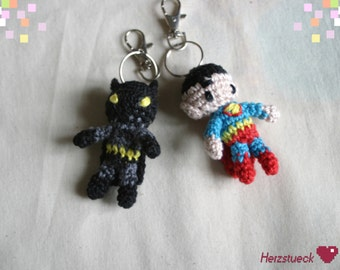 Superhero Amigurumi-charms
