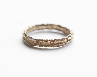 dried orange peel ring | minimalist jewelry | unique band | unique wedding band