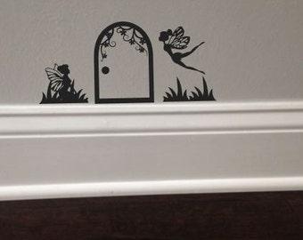 Fairy Door Decal With Fairies Nursery Girl's Room