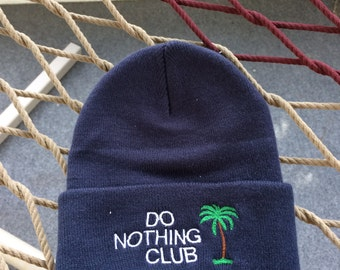 Do Nothing Club - Navy Blue with White Letters - Beanie