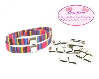10 passers-by Rectangle Double matte (cord 10mm) silver