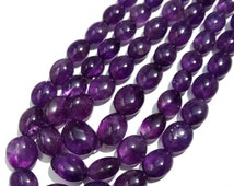 Finest Quality AMETHYST Smooth Oval Nuggets beads at whole sale price , length 16 inch strand 6x7 mm to 11x15 mm approx