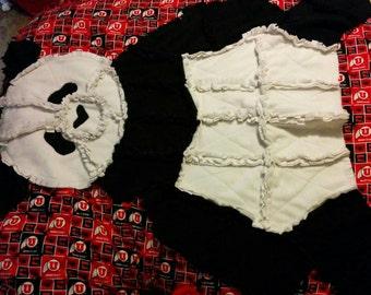 Panda bear rag quilt