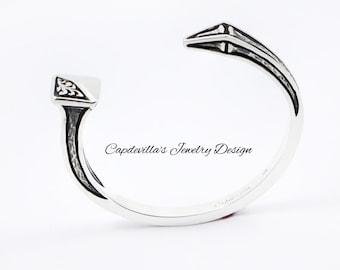 Sterling Silver Nail Bracelet for Men