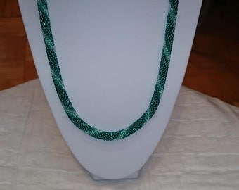 Seed bead crochet necklace and bracelet