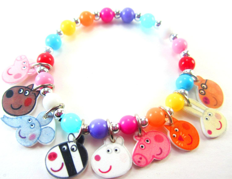 peppa pig charm bracelet peppa pig jewelry peppa pig