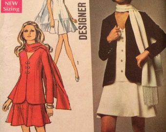 SALE Really Cute Dress and Jacket Designer Fashion Pattern Simplicity 8543