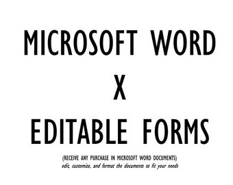 WORD DOC FORMS Freelance Templates™