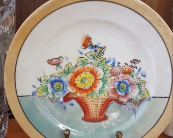 Vintage Lusterware Painted Plates