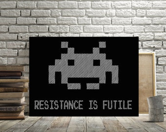 Space Invader Wall Decor