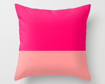 Deep Pink Rose Pink Indoor Throw Pillows Deep Pink Pillow Cover Rose Pink Pillow Sofa Pillow Couch Pillow Decorative Pillow Unique Pillow