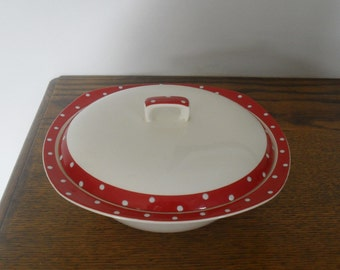 Midwinter Red Domino Tureen c1955+