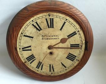 Oak Cased Circular Wall Clock By G Tydeman Of Stowmarket