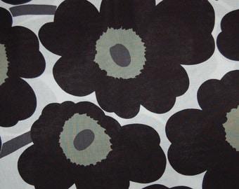 Marimekko Pieni Unikko pillow case, many sizes, Maija Isola design, Finland, black white
