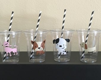 Puppy Birthday party cups