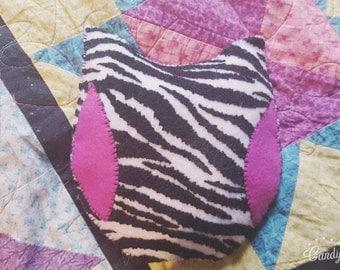 Zebra print owl ouchie bag! Big!