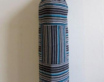 Large Yoga Mat Bag Pilates Mat Bag handmade Woven Cotton Multi Colour Stripes +  Free UK Delivery + Free Gift choice