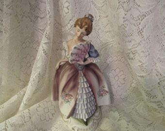 Lefton Elegant Colonial Lady Figurine