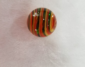 """1"""" Lampworked marble with stand"""