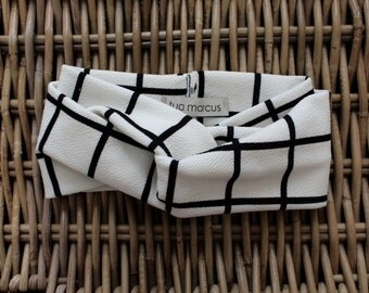Black + White Headband