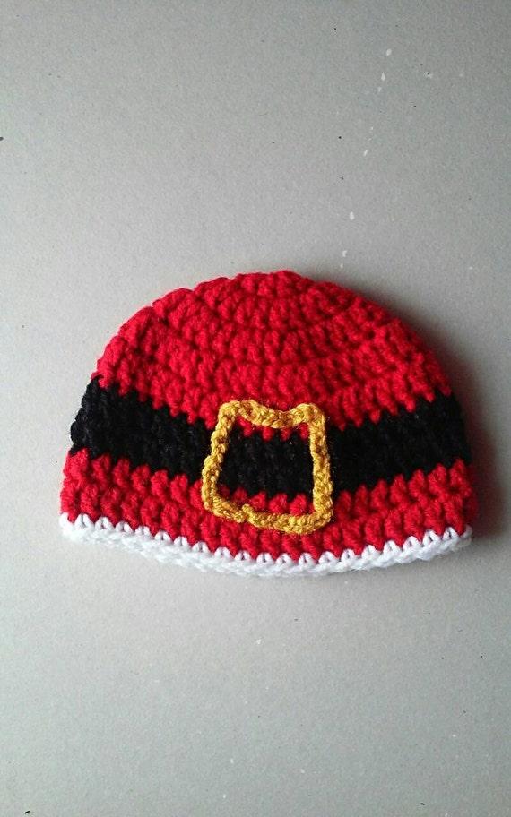 Christmas Santa Claus crochet hat , photo prop , baby shower gift