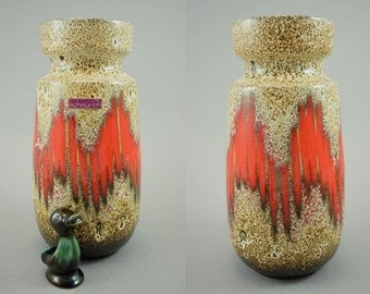Vintage vase / Scheurich / 242 22 / Lora   West Germany   WGP   60s