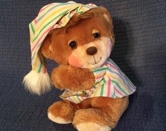 Vintage 1985 Fisher Price Teddy Bear/Nighttime Teddy