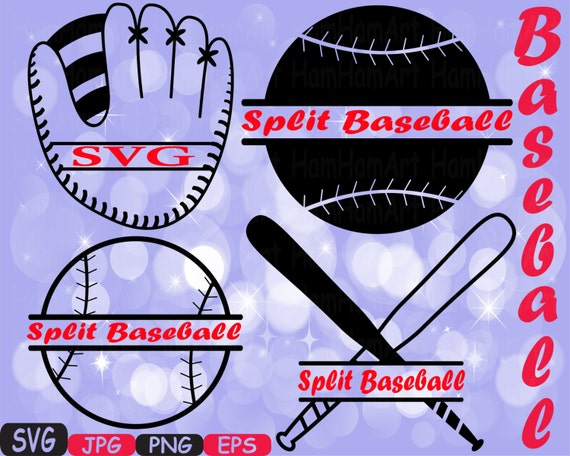 split baseball svg mascot cutting files svg baseball clipart