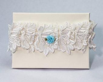 Garter 036 - Vintage Garter, Lace Garter, Wedding Garter, Liga de Bodas, Garter, Toss Garter. Made with a variety of laces & materials.