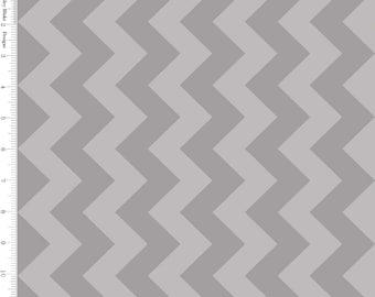 Medium Chevron Gray Tone on Tone by Riley Blake - C380-41-GRAY