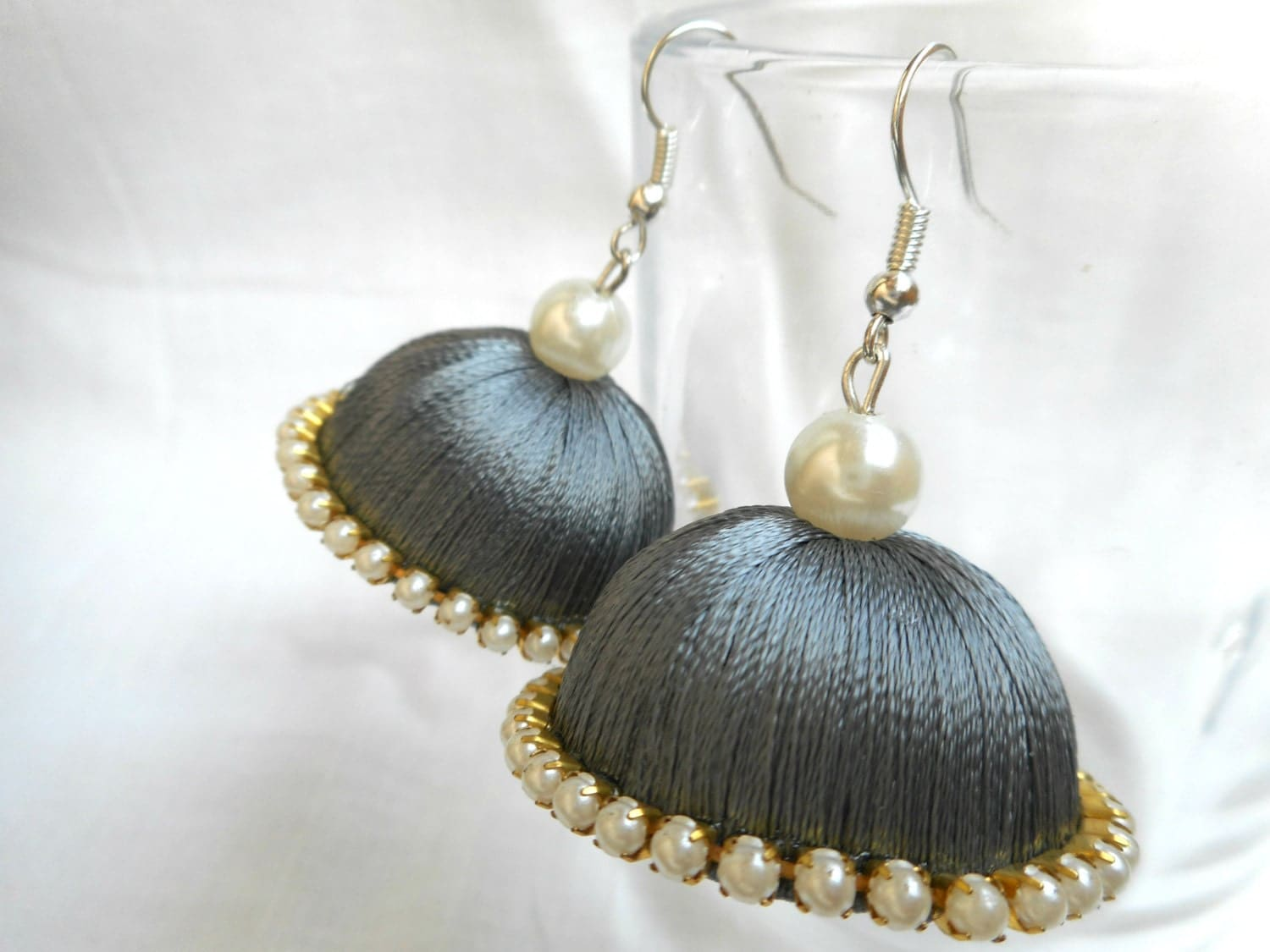 Silver Earrings Indian Made Male Models Picture