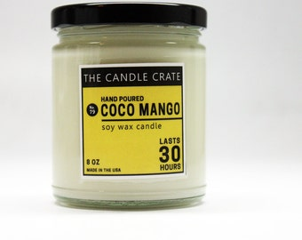 Coco Mango Scented Soy Wax Candle