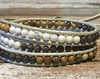 Chan Luu Style Wrap Bracelet / Bohemian Wrap Bracelet / Boho Bracelet / Leather Wrap Bracelet