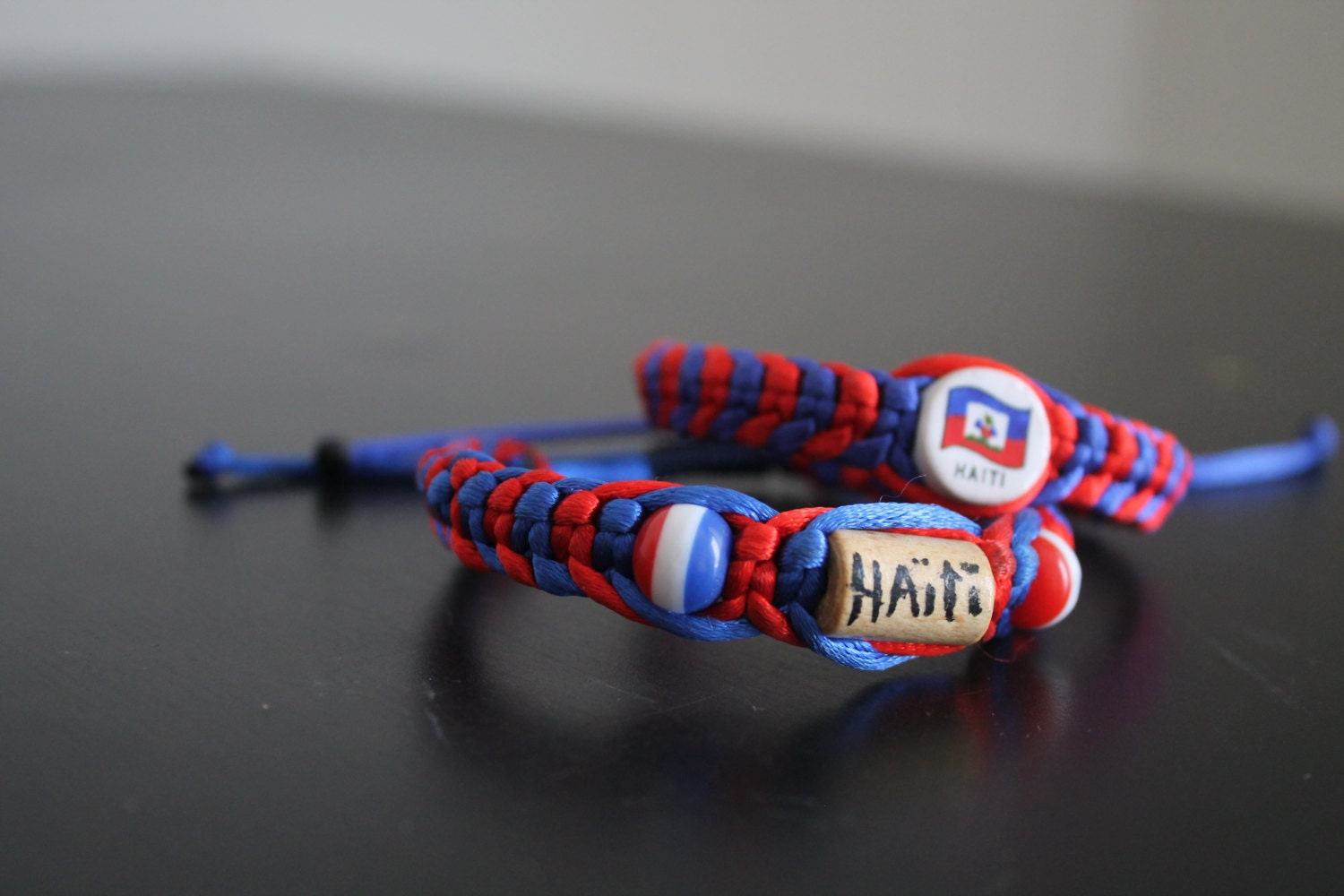 haiti bracelet blue and braided bracelet with haiti haitian made 5883