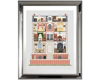 Georgian Dolls House - Counted Cross stitch Kit