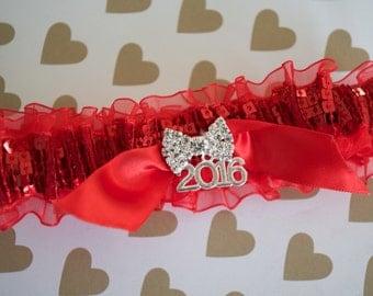 Prom Garters, Prom, Weddings, Wedding Garters, Garters, 2016 Prom Garters, Red Prom Garters