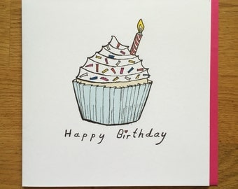 Greetings Card Birthday Card / Comedy/ Novelty/ Funny / Humour /cupcake