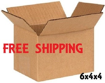 Shipping Boxes - 6x4x4 Corrugated Cardboard - FREE SHIPPING