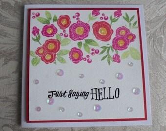 Just saying hello card. Hello card. Hi card. Just because card.